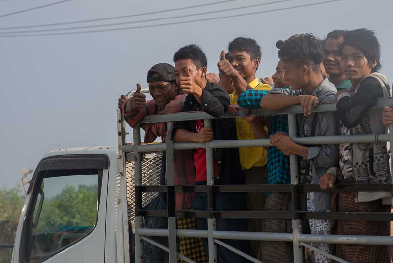 Personentransport in Myanmar