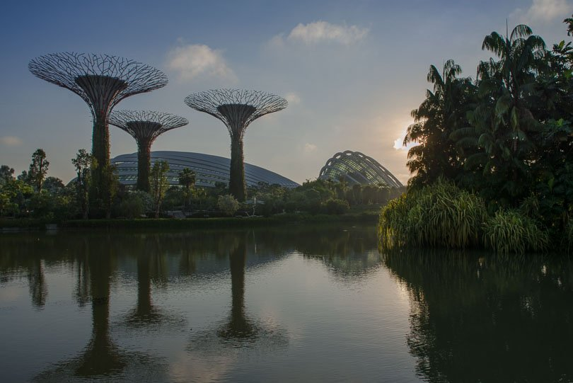 Singapur, Supertrees und Flower Dome