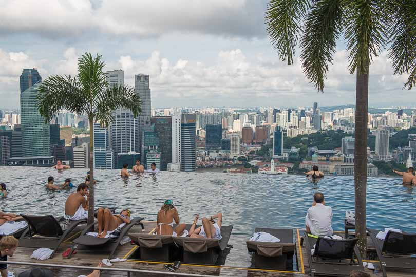 Singapur, Pool, Skypark, Marina Bay Sands