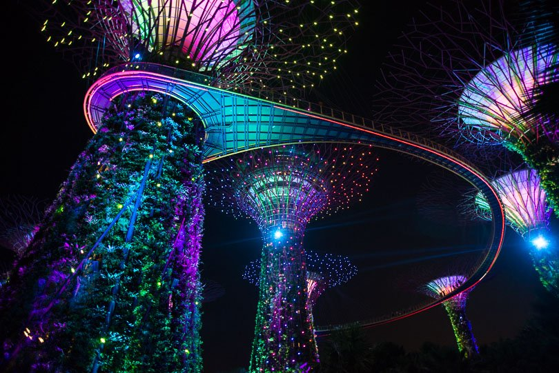 Singapur, Supertrees, Highlights, Singapore